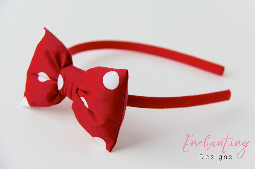 Polkadot Bow Alice Band