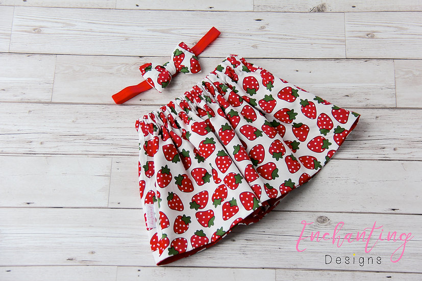 Strawberry Skirt Set