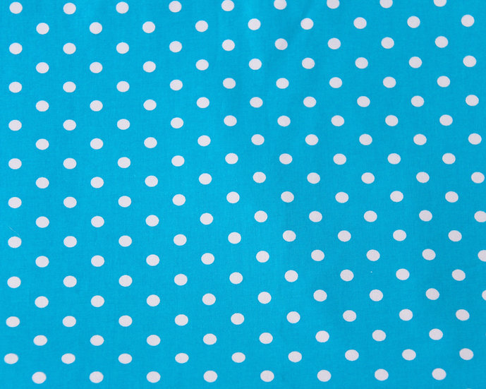 Turquoise Polkadot Face Covering