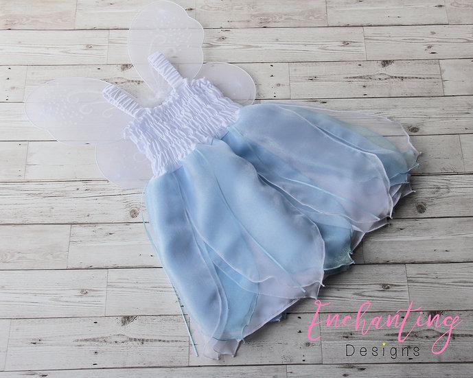 White & Blue Fairy Dress