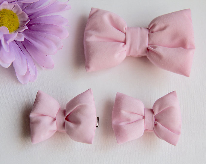 Pink Bow Clips