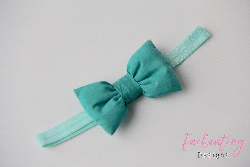 Jade Green Bow Headband