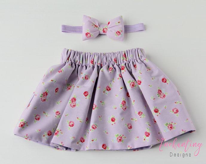 Lilac York Rose Skirt Set
