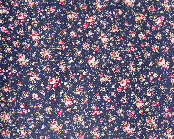 Navy Floral Face Covering