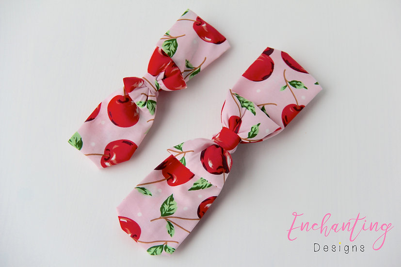 Pink Cherry Retro Headband