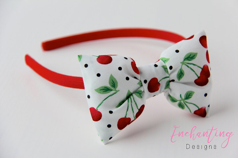 Cherry Bow Alice Band