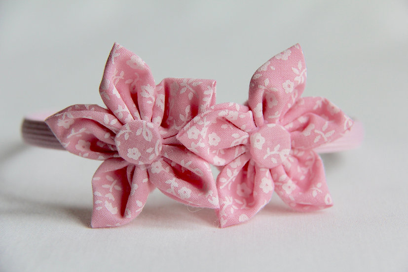Pink Pansy Flower Alice Band