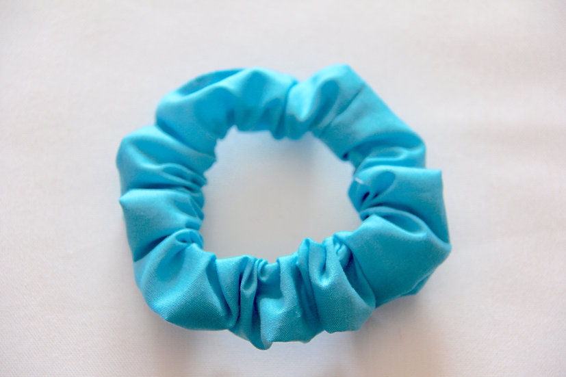 Turquoise Scrunchie