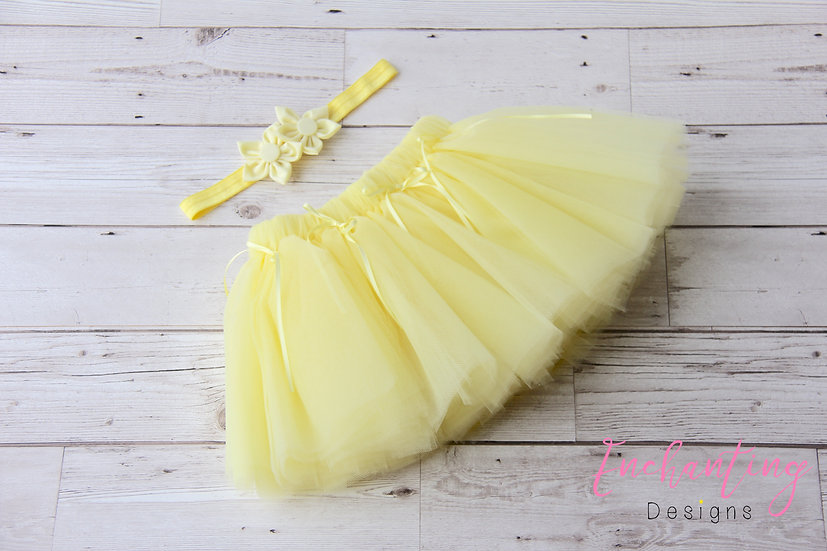 Yellow Tutu Set