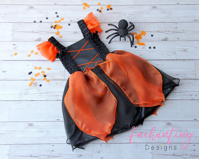 Black & Orange Witch Dress