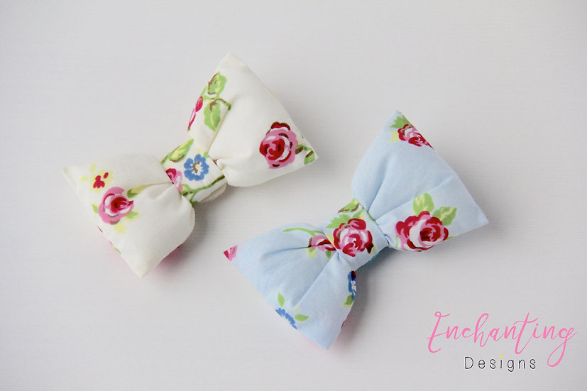Rose Bow Clips