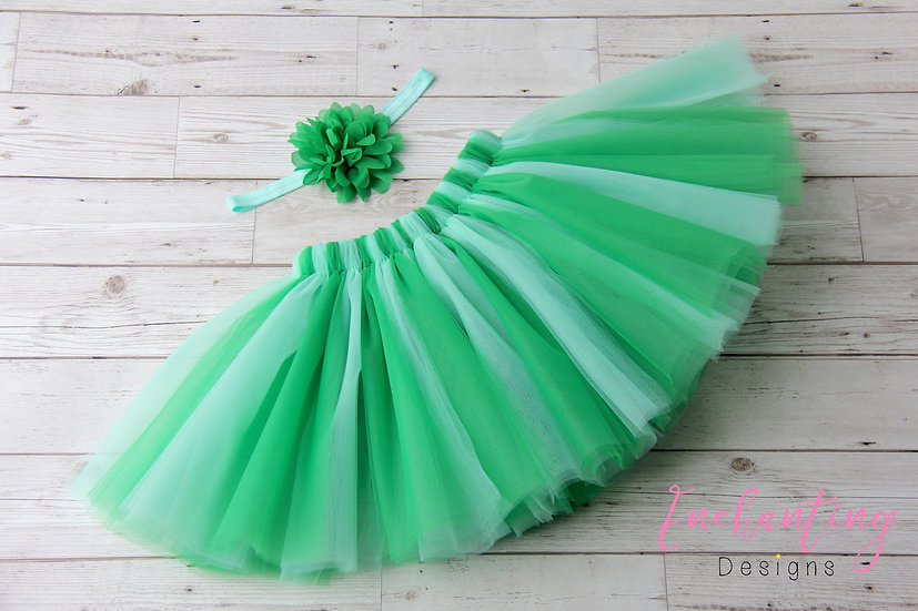 Green Tutu Set