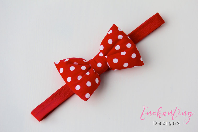Polkadot Bow Headband