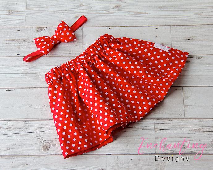 Polkadot Skirt Set