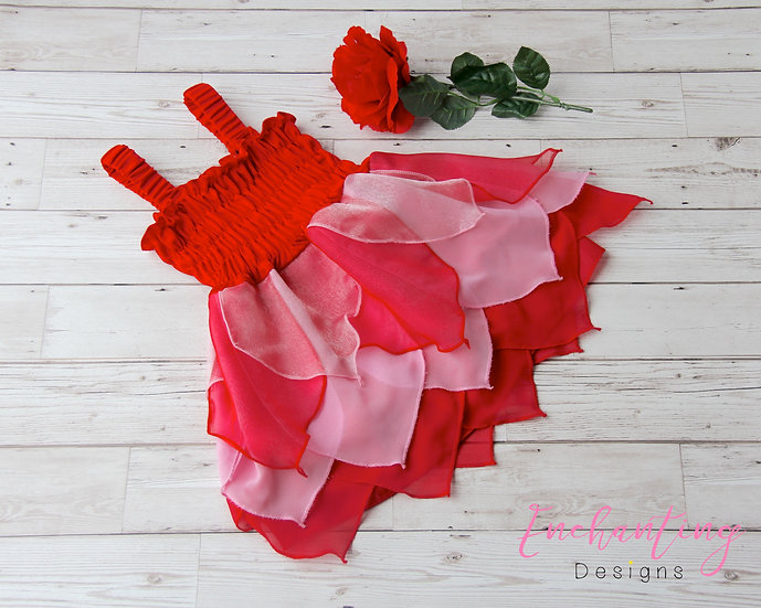 Red & Pink Pixie Dress