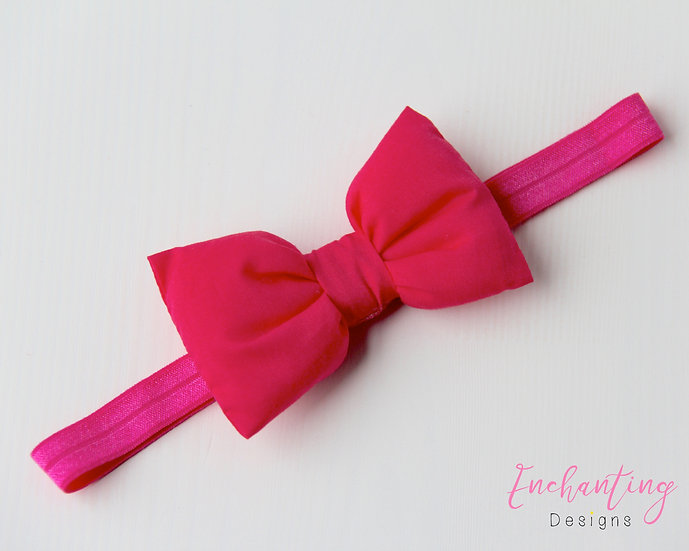 Hot Pink Bow Headband