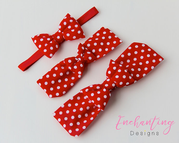 Red Polka Dot Mum & Baby Set