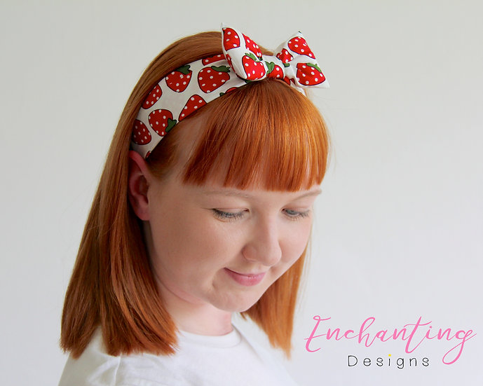 Strawberry Retro Headband