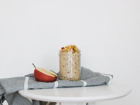 Apfel-Zimt-Porridge im Glas
