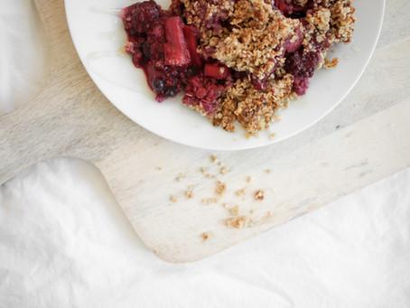 Apple-Berry-Crumble | vegan & no sugar