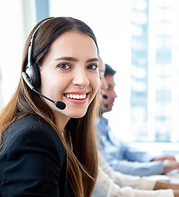 female call center agent