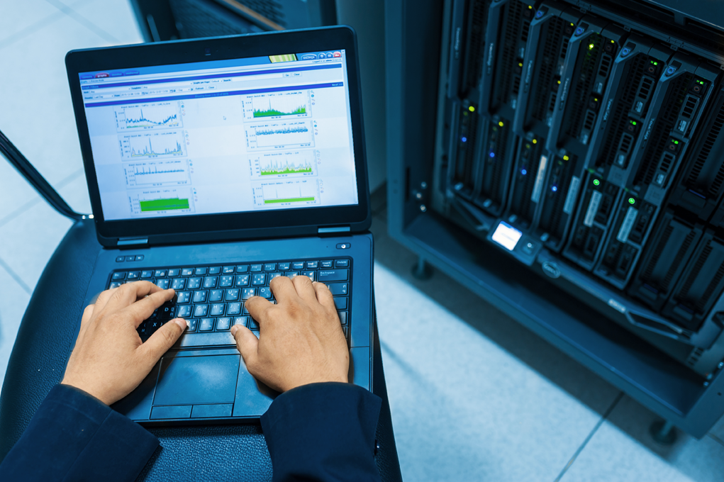 technician on a laptop