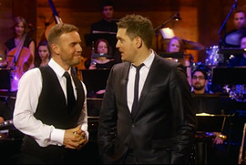 With Michael Buble & Gary Barlow for ITV