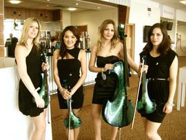 With Siren String Quartet at Epsom Race