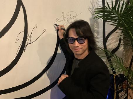 アートパフォーマンス Seiji Yamauchi 来店!