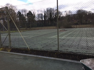 Court resurfacing begins