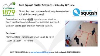 Squash Taster Sessions - Saturday Morning 12th June