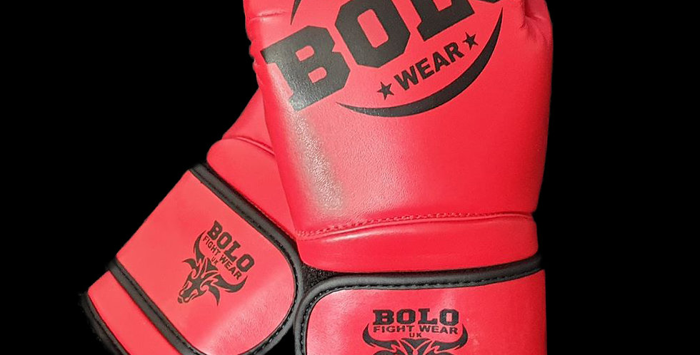 Bolo Red PU Gloves