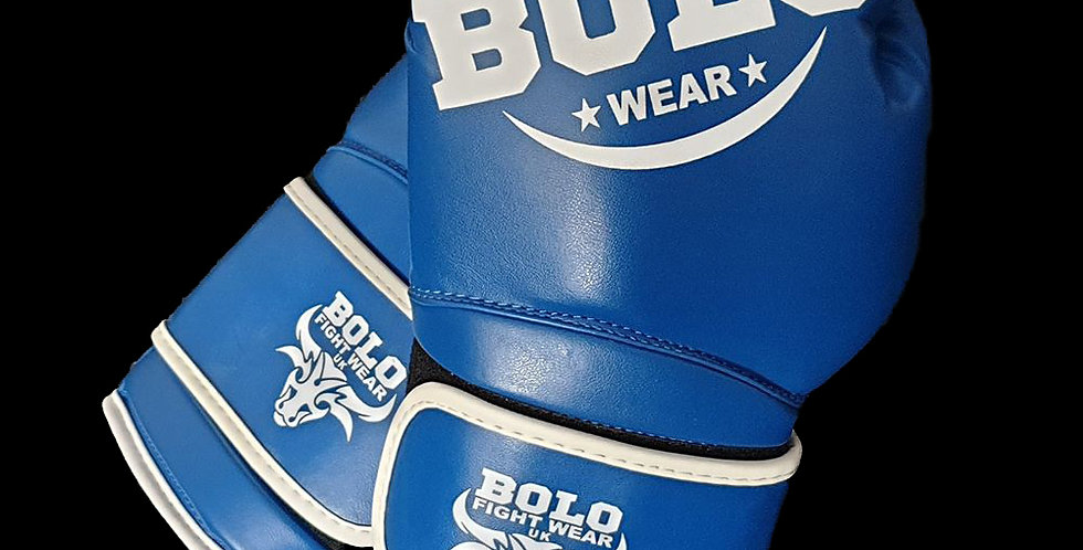 Bolo Blue PU Gloves