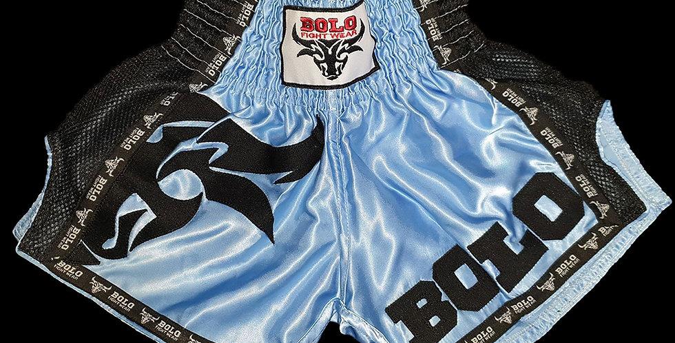 Bolo - Sky Blue Retro Muay Thai Shorts