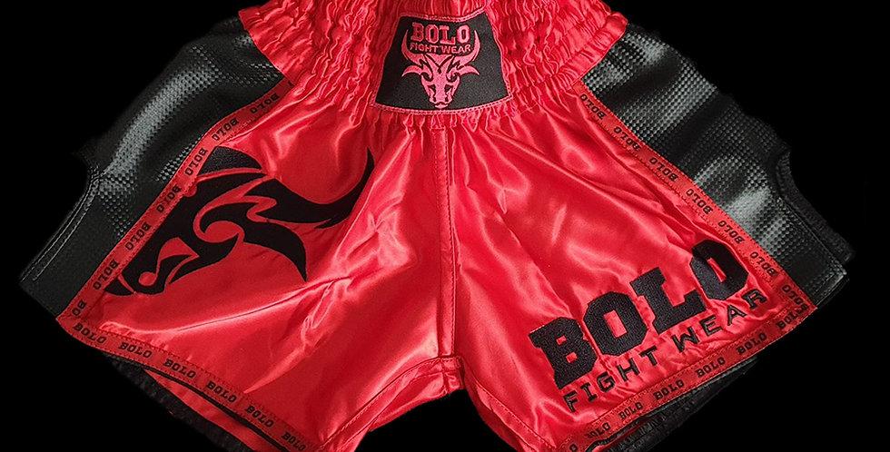 Bolo - Red/Black Retro Muay Thai Shorts