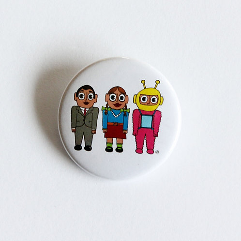 Little Frank, Denise & Buzz Aldrin Badge