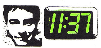 11:37 digital clock with low-fi image of Chris Sievey