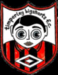 Frank Sidebottom illustrated Timpeley Bigshorts F.C. badge