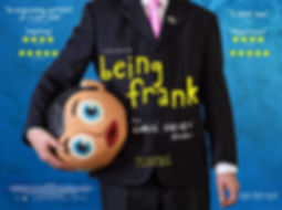 "Movie poster for ""Being Frank: The Chris Sievey Story"" about the life of Chris Sievey and Frank Sidebottom"