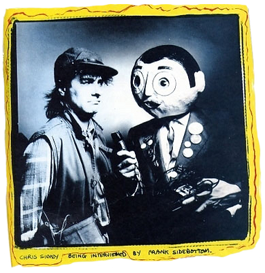 Chris Sievey being interviewed by Frank Sidebottom