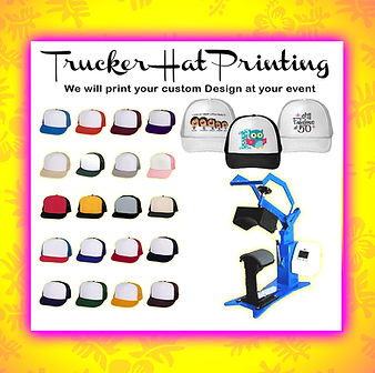 custom-made trucker hats Hawaii, trucker hats hawaii, we use a hat heat press to make your trucker hats in Hawaii