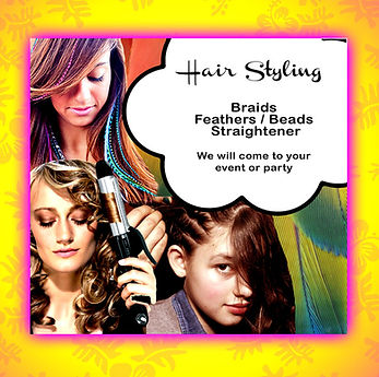 Hair styling Hawaii, braids services hawaii, premium synthetic feather hair extensions hawaii, curls and straightener and flat iron hawaii