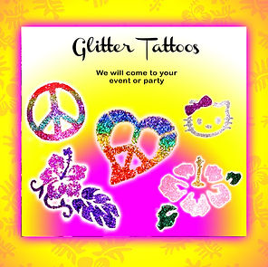 Glitter tattoos in Oahu Hawaii