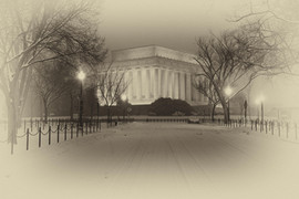 Lincoln Memorial with Snow