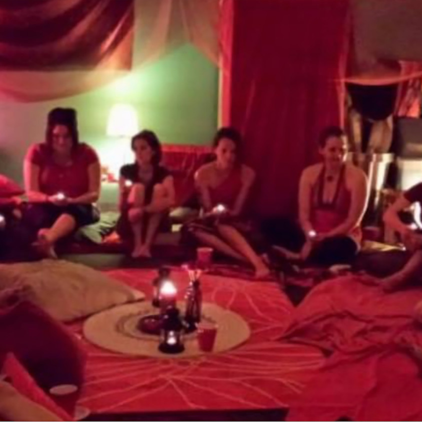Full Moon Red Tent