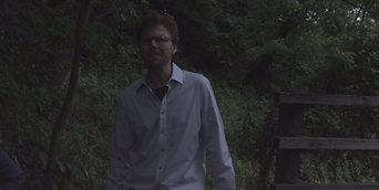 Lead actor Thomas J. O'Brien in The Confined shortfilm