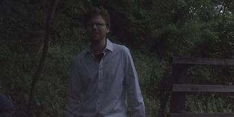 Lead actor Thomas J. O'Brien in The Confined shortfilm