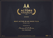 Best Actor In An Indie FilmThomas J. O'B