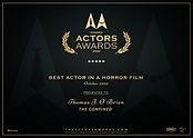 Thomas J. OBrien Actors Awards Best Acto