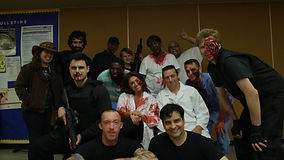 Cast and crew after shoot over in Staten